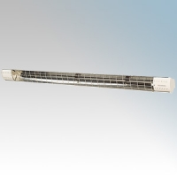 Consort HE6503SL SL Sunzone Barley White Wireless Controlled Radiant Heater With Chrome Guard & Mounting Bracket - Requires SL Series Contoller 3kW W:1720mm x H:86mm x D:56mm