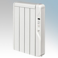 Elnur RX4E-PLUS RXE Plus Series White LOT20 Compliant 4 Element Oil Free Low Energy Radiator With Digital Control & Programmer 500W W:415mm x H:580mm x D:100mm