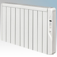 Elnur RX10E-PLUS RXE Plus Series White LOT20 Compliant 10 Element Oil Free Low Energy Radiator With Digital Control & Programmer 1250W W:895mm x H:580mm x D:100mm