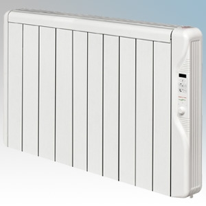 Elnur RX10E-PLUS RXE Plus Series White LOT20 Compliant 10 Element Oil Free Low Energy Radiator With Digital Control & Programmer