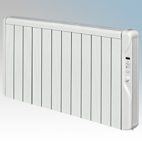 Elnur RX12E-PLUS RXE Plus Series White LOT20 Compliant 12 Element Oil Free Low Energy Radiator With Digital Control & Programmer 1500W W:1055mm x H:580mm x D:100mm