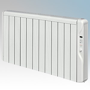 Elnur RX12E-PLUS RXE Plus Series White LOT20 Compliant 12 Element Oil Free Low Energy Radiator With Digital Control & Programmer