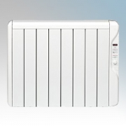 Elnur RX8E-PLUS RXE Plus Series White LOT20 Compliant 8 Element Oil Free Low Energy Radiator With Digital Control & Programmer 1