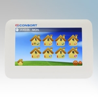 Consort MRX1 White Mutizone Wireless Controller With Large Backlit LCD Display - For Up To 8 Heating Zones