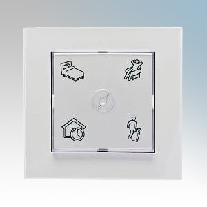 Nobo ECOSWT 055545 EcoSwitch Four Mode Override Wall Switch For EcoHub Wireless Control System