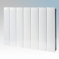 Creda Heating CEP075E Contour100 White LOT20 Compliant Radiator Styled Panel Heater With Programmable Room Temperature, 7 Day Timer & Electronic Thermostat IP24 0.75kW