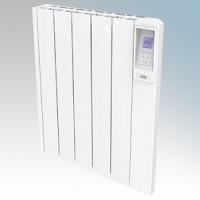 Creda Heating CAR050 CAR Series White LOT20 Compliant Aluminium Radiator Styled Panel Heater With Programmable Room Temperature, 7 Day Timer & Electronic Thermostat IP24 0.5kW
