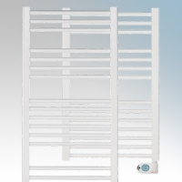 Elnur TBB-8K TBBK Series White Ladder Style Electric Towel Rail With Digital Weekly/Daily Progammer & Temperature Selector 300W H:870mm x 500mm x D:80mm