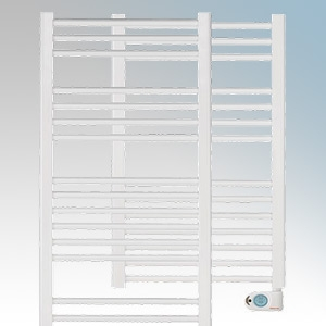 Elnur TBB-8K TBBK Series White Ladder Style Electric Towel Rail With Digital Weekly/Daily Progammer & Temperature Selector 300W