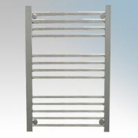 Hyco AQ250LS Aquilo Chrome Slimline Straight 13 Bar Ladder Style Electric Towel Rail With Fixing Kit IPX4 250W H: 700mm x W:500mm x D:93-108mm