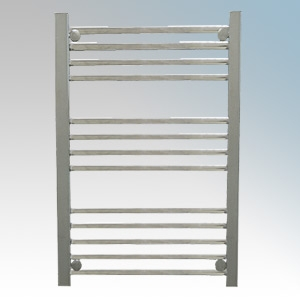 Hyco AQ250LS Aquilo Chrome Slimline Straight 13 Bar Ladder Style Electric Towel Rail With Fixing Kit IPX4 250W H: 700mm x W:500m