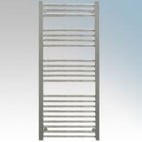 Hyco AQ400LS Aquilo Chrome Slimline Straight 13 Bar Ladder Style Electric Towel Rail With Fixing Kit 400W IPX4 H: 1100mm x W:500mm x D:93-108mm