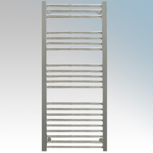 Hyco AQ400LS Aquilo Chrome Slimline Straight 13 Bar Ladder Style Electric Towel Rail With Fixing Kit 400W IPX4 H: 1100mm x W:500