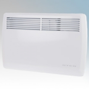 Hyco AN500T Accona White Electric Panel Heater With Thermostatic Control & 7 Day Timer 500W W:444mm x H:440mm x D:98mm