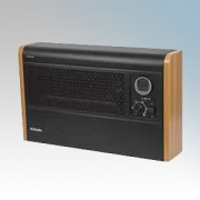 Dimplex WFE3TNB WFE Series Black / Cherry Wall Mounting Fan Convector Heater With Variable Thermostat & 24 Hour Programmable Tim