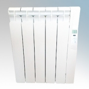 Rointe KRI0550RAD3 Kyros White Low Energy 5 Element Digital Programmable Oil Filled Electric Radiator With Digital 24hr / 7 Day