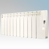 Rointe KRI1300RADC3 Kyros White Low Energy Low Profile 13 Element Digital Programmable Oil Filled Electric Radiator With Digital 24hr / 7 Day Programmer & Safety Thermostat 1200W H:420mm x W:1180mm x D:120mm