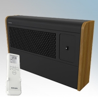 Dimplex WFE3BE WFE Range Black / Cherry LOT20 Compliant Wall Mounting Fan Convector Heater With Remote Controlled 7 Day Timer + Temperature Control & Adaptive Start 3.0kW H:350mm x W:571mm x D:120mm