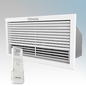 Dimplex AC3CE AC Range White LOT20 Compliant Ceiling Recessed Air Curtain With Bluetooth Remote Controlled 7 Day Timer + Temperature Control, Adaptive Start & Ceiling Grille 3.0kW D:295mm x L:595mm x H:184mm