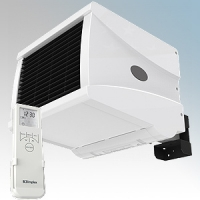 Dimplex CFS30E CFS Range White LOT20 Compliant 1Ph Commercial Fan Heater With Bluetooth Remote Controlled 7 Day Timer + Temperature Control, Adaptive Start, Cool Blow & Adjustable Wall Bracket IP24 3kW H:262mm x W:306mm x D:495mm