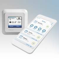 Heatmat NGT-2.0-WIFI NGTouch Wi-Fi White Electronic Wireless App Contolled Colour Touchscreen Thermostat & Timer For Underfloor Heating Systems 16A H:82mm x W:82mm x D:40mm