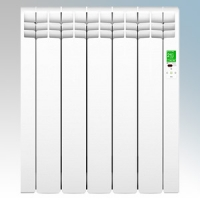 Rointe DIW0550RAD D Series White 5 Element Low Energy Digital Electric Radiator With E-Life Technology Control Options & Wi-Fi App Control 550W H:585mm x W:510mm x D:98mm