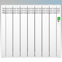Rointe DIW0770RAD D Series White 7 Element Low Energy Digital Electric Radiator With E-Life Technology Control Options & Wi-Fi App Control 770W H:585mm x W:675mm x D:98mm