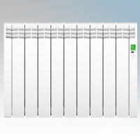 Rointe DIW0990RAD D Series White 9 Element Low Energy Digital Electric Radiator With E-Life Technology Control Options & Wi-Fi App Control 990W H:585mm x W:835mm x D:98mm