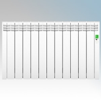 Rointe DIW1210RAD D Series White 12 Element Low Energy Digital Electric Radiator With E-Life Technology Control Options & Wi-Fi App Control 1210W H:585mm x W:992mm x D:98mm