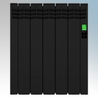 Rointe DIB0550RAD D Series Graphite 5 Element Low Energy Digital Electric Radiator With E-Life Technology Control Options & Wi-Fi App Control 550W H:585mm x W:510mm x D:98mm