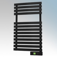 Rointe DTI030SEB D Series Graphite Wireless Enabled Low Energy Curved Bar Towel Rail With Digital 24hr / 7 Day Programmer & Safety Thermostat - Wi-Fi App Control 300W H:843mm x W:500mm x D:100mm