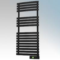 Rointe DTI045SEB D Series Graphite Wireless Enabled Low Energy Curved Bar Towel Rail With Digital 24hr / 7 Day Programmer & Safety Thermostat - Wi-Fi App Control 450W H:1161mm x W:500mm x D:100mm