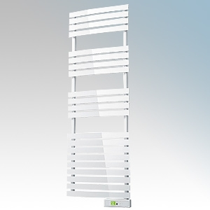 Rointe DTI060SEW D Series White Wireless Enabled Low Energy Curved Bar Towel Rail With Digital 24hr / 7 Day Programmer & Safety