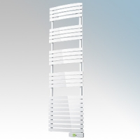 Rointe DTI075SEW D Series White Wireless Enabled Low Energy Curved Bar Towel Rail With Digital 24hr / 7 Day Programmer & Safety Thermostat - Wi-Fi App Control 750W H:1797mm x W:500mm x D:100mm