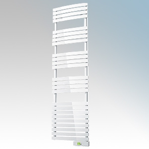 Rointe DTI075SEW D Series White Wireless Enabled Low Energy Curved Bar Towel Rail With Digital 24hr / 7 Day Programmer & Safety