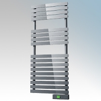 Rointe DTI060SEC D Series Chrome Wireless Enabled Low Energy Curved Bar Towel Rail With Digital 24hr / 7 Day Programmer & Safety Thermostat - Wi-Fi App Control 600W H:1475mm x W:500mm x D:100mm