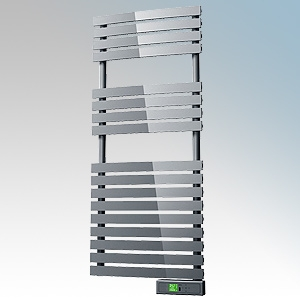 Rointe DTI060SEC D Series Chrome Wireless Enabled Low Energy Curved Bar Towel Rail With Digital 24hr / 7 Day Programmer & Safety