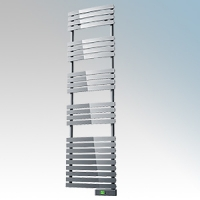 Rointe DTI075SEC D Series Chrome Wireless Enabled Low Energy Curved Bar Towel Rail With Digital 24hr / 7 Day Programmer & Safety Thermostat - Wi-Fi App Control 750W H:1797mm x W:500mm x D:100mm