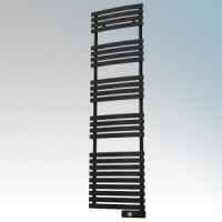 Rointe DTI075SEB D Series Graphite Wireless Enabled Low Energy Curved Bar Towel Rail With Digital 24hr / 7 Day Programmer & Safety Thermostat - Wi-Fi App Control 750W H:1797mm x W:500mm x D:100mm