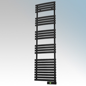 Rointe DTI075SEB D Series Graphite Wireless Enabled Low Energy Curved Bar Towel Rail With Digital 24hr / 7 Day Programmer & Safe