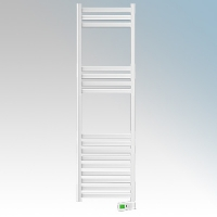 Rointe KTI075SEB3 Kyros White Low Energy Towel Rail With 4 Pre-Installed Lifestyle Programmes, 24hr / 7 Day Programmer & Safety Thermostat 750W H:1700mm x W:500mm x D:100mm