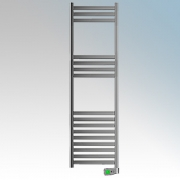 Rointe KTI075SEC3 Kyros Chrome Low Energy Towel Rail With 4 Pre-Installed Lifestyle Programmes, 24hr / 7 Day Programmer & Safety