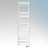 Rointe KTI100SEB3 Kyros White Low Energy Towel Rail With 4 Pre-Installed Lifestyle Programmes, 24hr / 7 Day Programmer & Safety Thermostat 1kW H:1900mm x W:500mm x D:100mm