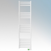 Rointe KTI100SEB3 Kyros White Low Energy Towel Rail With 4 Pre-Installed Lifestyle Programmes, 24hr / 7 Day Programmer & Safety
