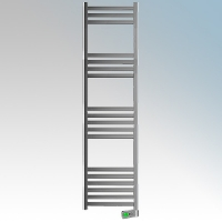 Rointe KTI100SEC3 Kyros Chrome Low Energy Towel Rail With 4 Pre-Installed Lifestyle Programmes, 24hr / 7 Day Programmer & Safety Thermostat 1kW H:1900mm x W:500mm x D:100mm