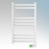 Rointe KTI030SEB3 Kyros White Low Energy Towel Rail With 4 Pre-Installed Lifestyle Programmes, 24hr / 7 Day Programmer & Safety Thermostat 300W H:900mm x W:500mm x D:100mm