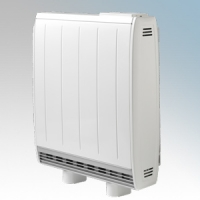 Dimplex QM050RF Quantum White Low Energy Fan Assisted Electric Storage Heater With Integrated RF Control 500W Output / 400W Boost H:730mm x W:580mm x D:185mm