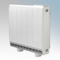 Dimplex QM070RF Quantum White Low Energy Fan Assisted Electric Storage Heater With Integrated RF Control 700W Output / 630W Boost H:730mm x W:703mm x D:185mm