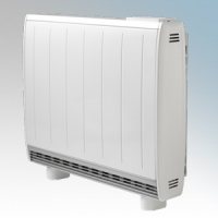 Dimplex QM100RF Quantum White Low Energy Fan Assisted Electric Storage Heater With Integrated RF Control 1000W Output / 880W Boost H:730mm x W:865mm x D:185mm