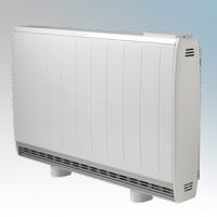 Dimplex QM150RF Quantum White Low Energy Fan Assisted Electric Storage Heater With Integrated RF Control 1500W Output / 1300W Boost H:730mm x W:1069mm x D:185mm